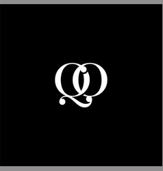 Q o letter logo creative design on black color vector