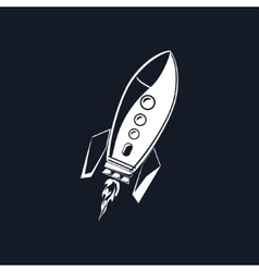 Rocket Isolated on Black vector image