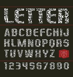 Sans serif decorative font vector image