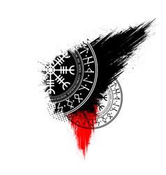 Scandinavian grunge symbols wallpaper vector