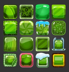 Set different square buttons 3 vector