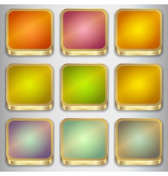 Set of Empty Buttons vector image