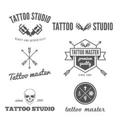 Set of logo emblem badge print sticker or vector