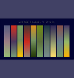 set of vintage gradients design vector image
