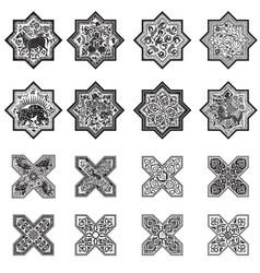 set tiles for design vector image