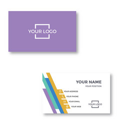 Simple modern business card vector