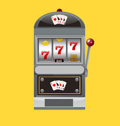 slot machine realistic style vector image