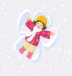 Snow angel vector