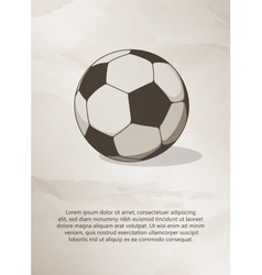 Soccer football ball Vintage Label Logo Frame vector