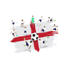 soccer player team with england flag background vector image