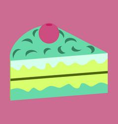 Sweet dessert in flat design berry cake vector