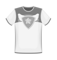T-shirt fan with printfans single icon in vector