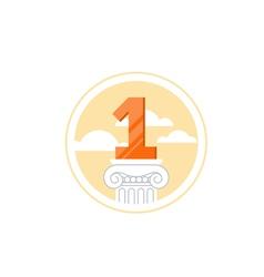 Top achievement winner medal success concept vector image