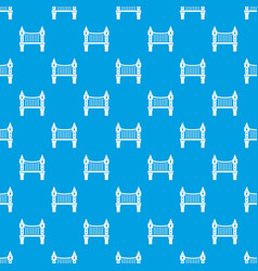 tower bridge pattern seamless blue vector image
