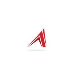 Triangle arrow abstract shape logo vector