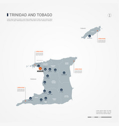 trinidad and tobago infographic map vector image