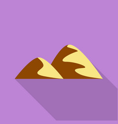 two hills icon flat style vector image
