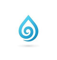 Water drop symbol logo design template icon may vector