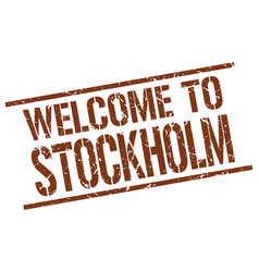 Welcome to stockholm stamp vector