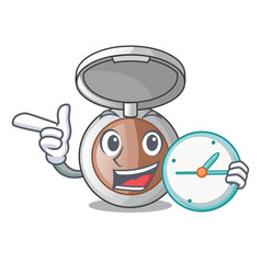 With clock powder makeup isolated in the mascot vector