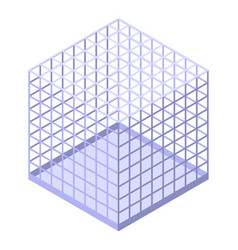 Wizard steel cage icon isometric style vector