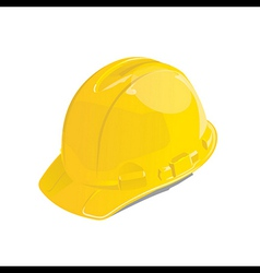 Yellow safety helmet vector image