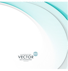 blue smooth wave background vector image vector image