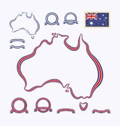Colors of Australia vector image