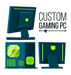 custom gaming pc modern custom build vector image vector image
