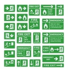 Exit sign set vector image