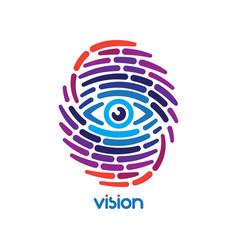 Fingerprint with eye vector