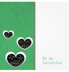 Hand Drawn heart textured card vector image