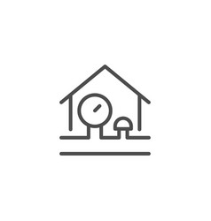 House engineering line icon vector