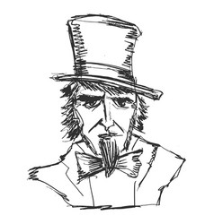 uncle sam symbol of usa vector image