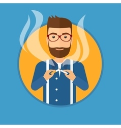 Young man quitting smoking vector image