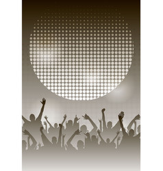 Dance party night poster monochrome background vector