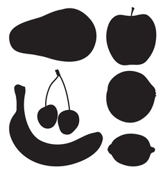 Fruit silhouette2 vector image vector image