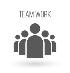 Group of People Business Icon Team Work vector image