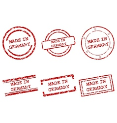 Made in Germany stamps vector image vector image