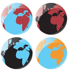 Smooth globe icons vector image