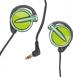 earphones vector image vector image