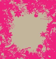 floral burst vector image vector image