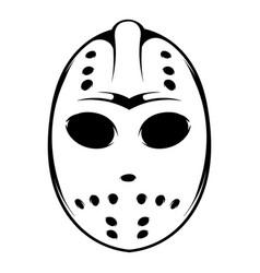 Hockey mask icon icon cartoon vector