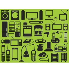 Icons Appliances vector image vector image