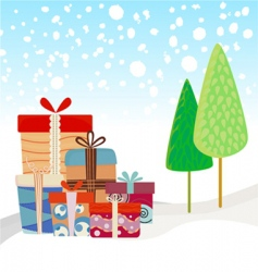 new year gifts vector image vector image