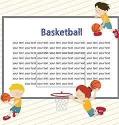 Basketballtemplete 01 vector