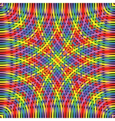 knitted rainbow vector image