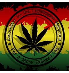 Legalization of marijuana vector