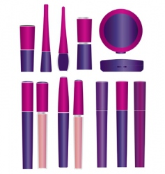 make up packages vector image vector image