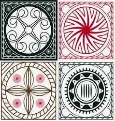 ornamental indian scuares vector image vector image